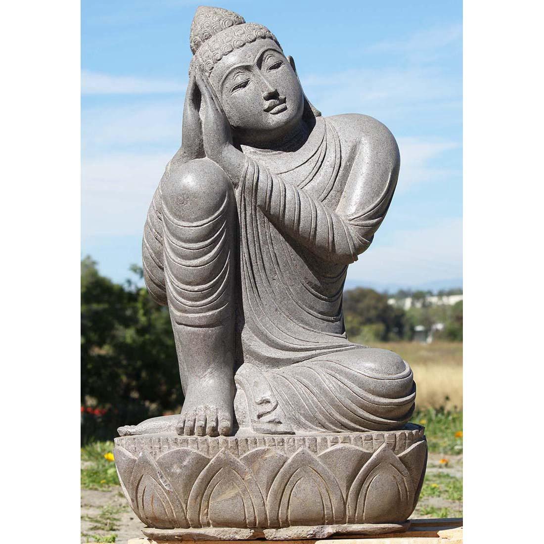 Marble large size sleeping buddha statue