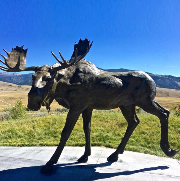 Modern landscape bronze