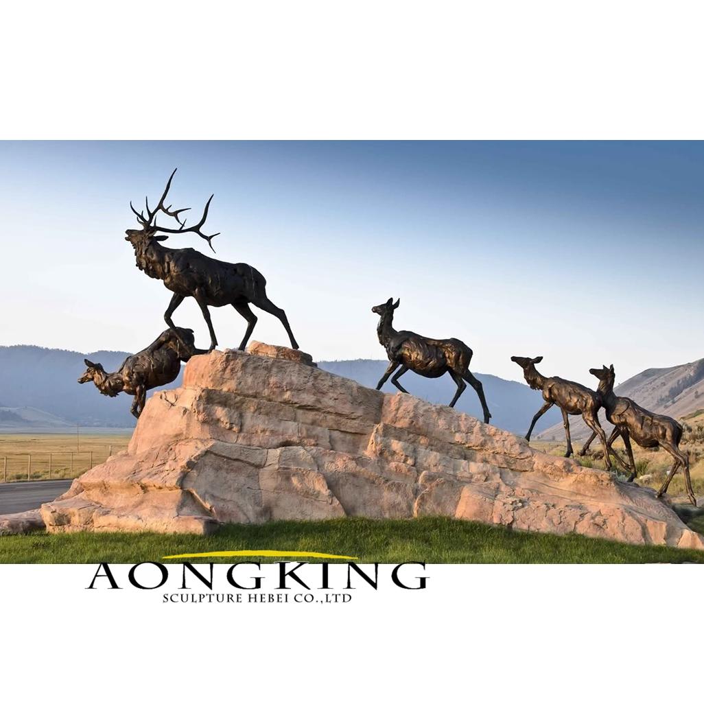 New design bronze deer statue