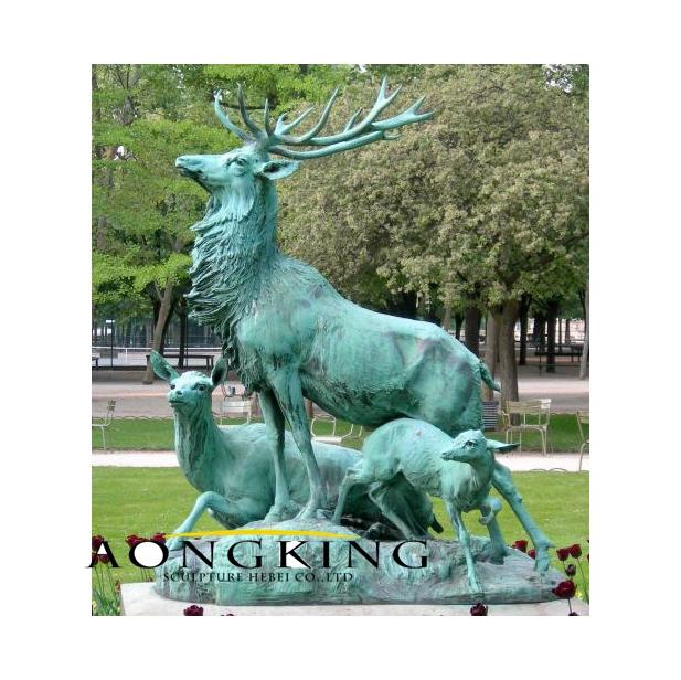 Paris deer statues