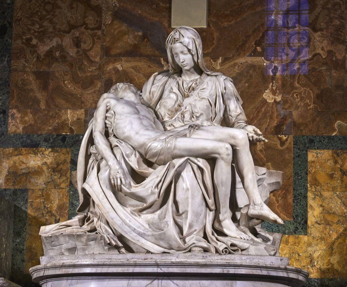 Pieta marble art