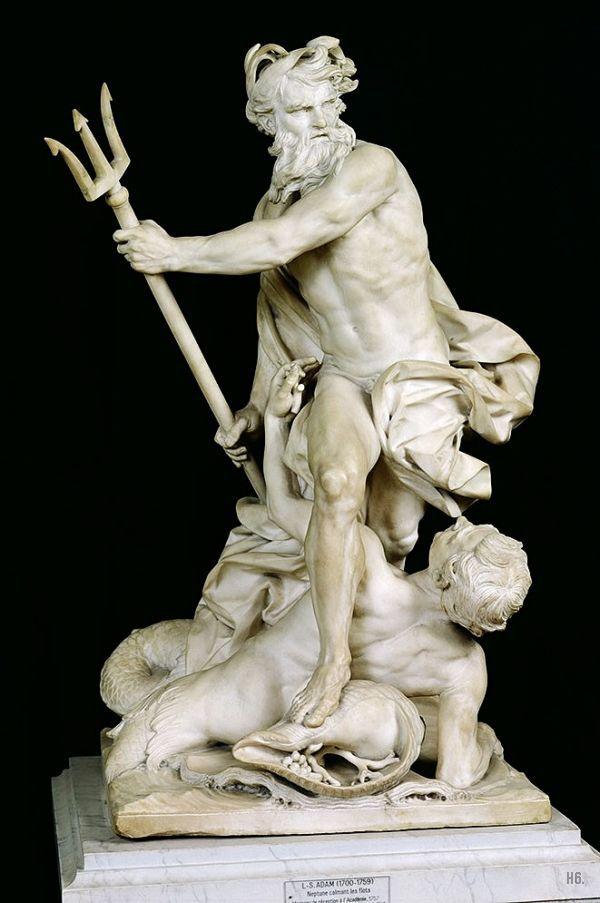 Poseidon marble statue