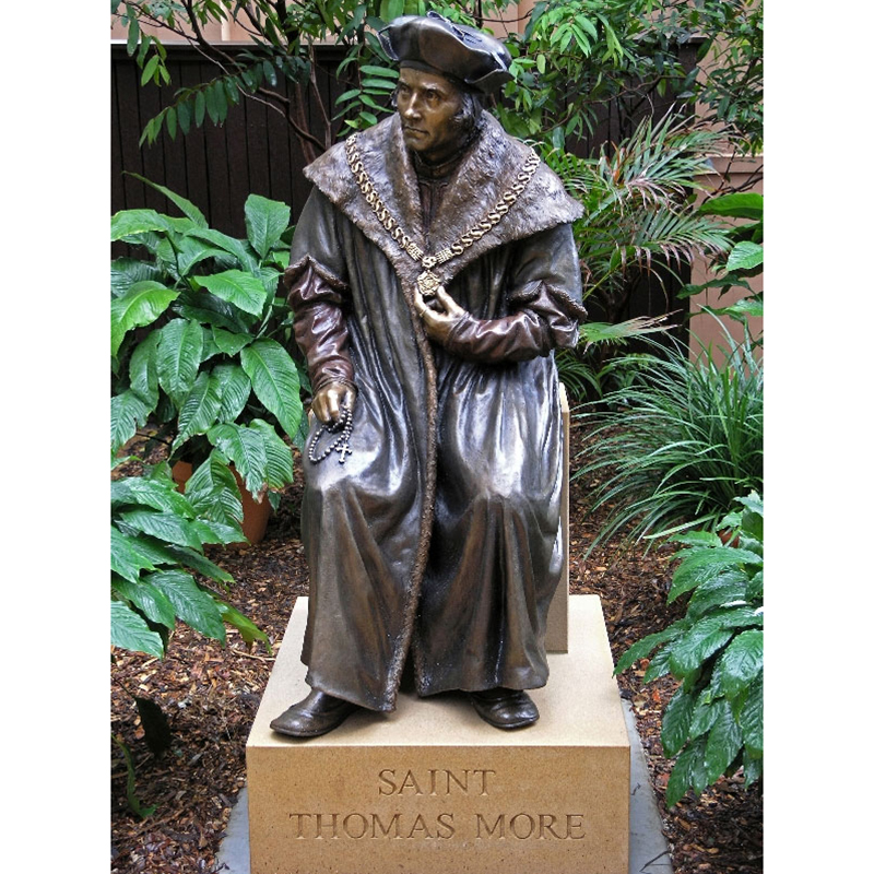 Saint Thomas sitting bronze