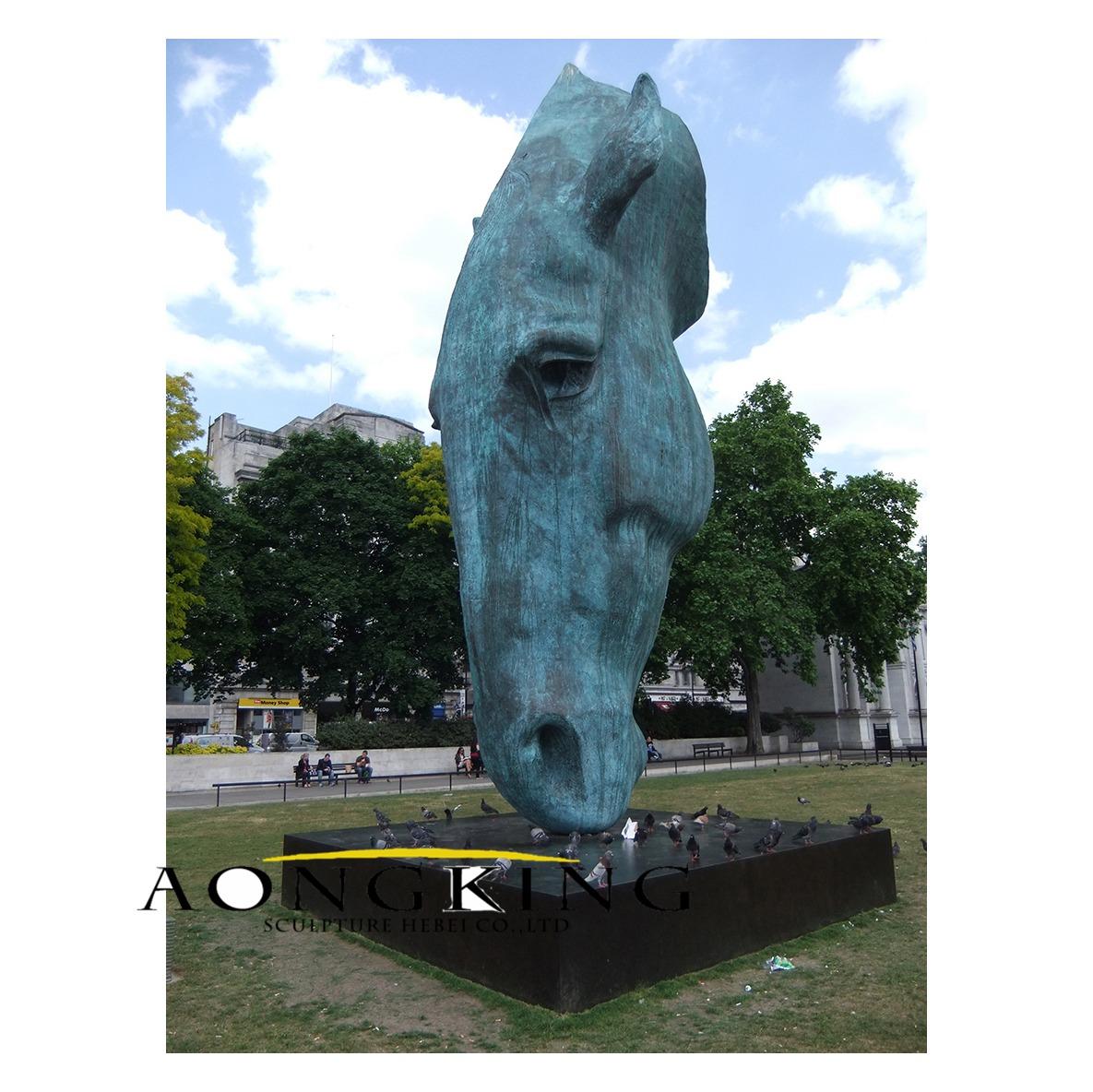 Sculpture of horse's head