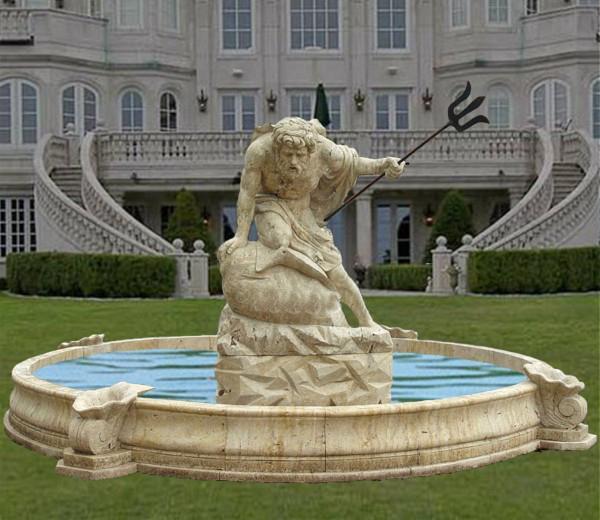 Statuary fountain poseidon statue