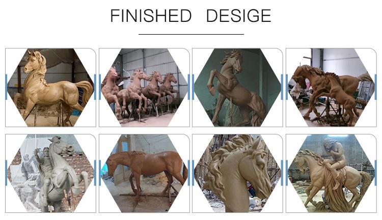 Bronze horse sculptures
