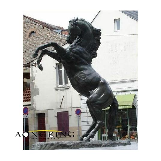 Bronze black horse sculpture