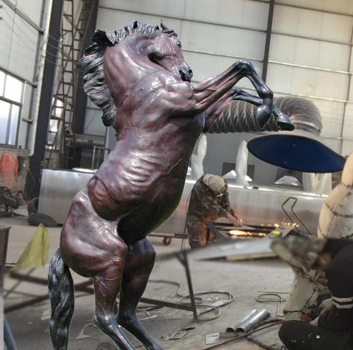 Bronze decor horse statues
