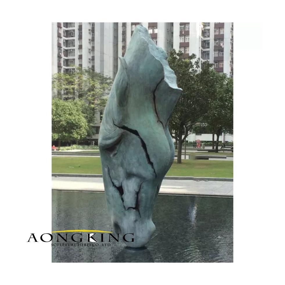 Bronze large horse head sculpture