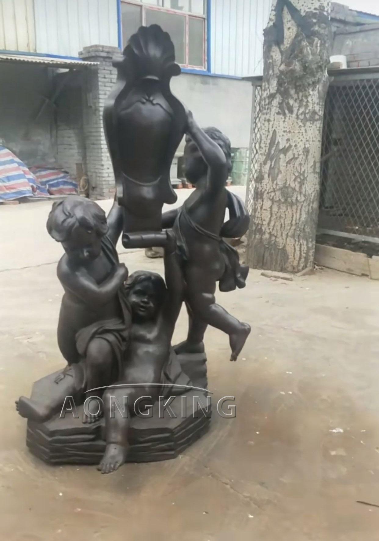 Children pot decor sculpture