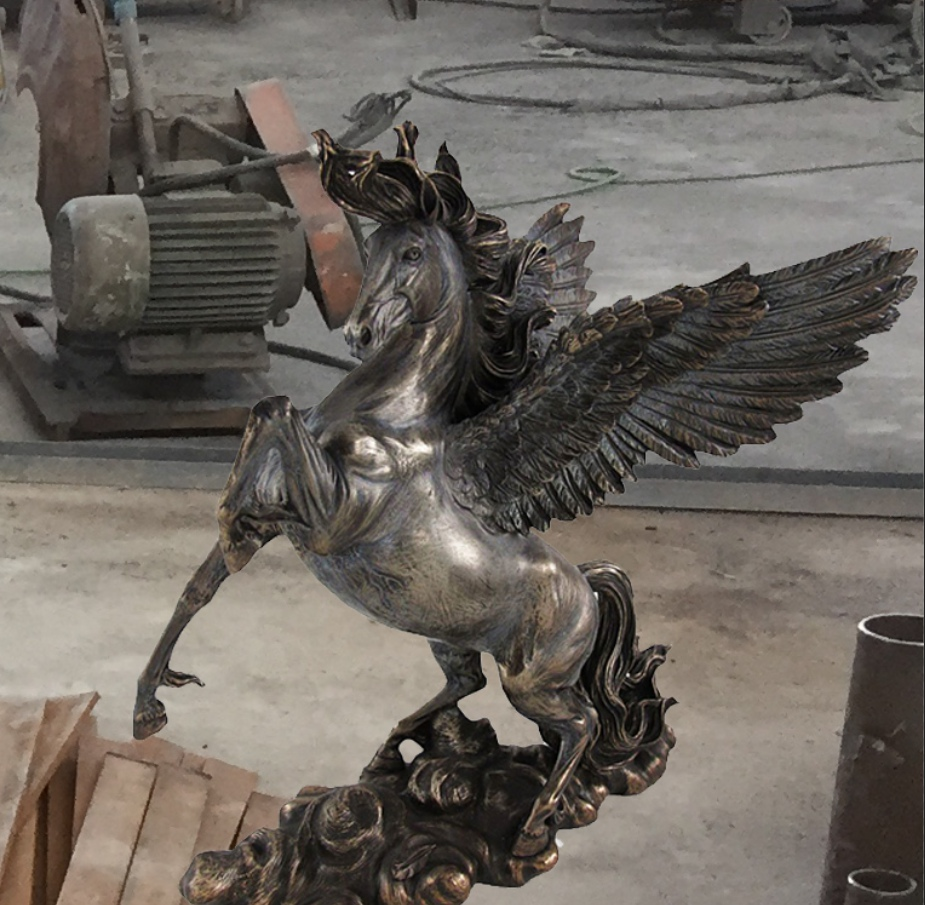 Copper flying horse statue