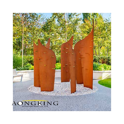 Decor corten steel sculpture