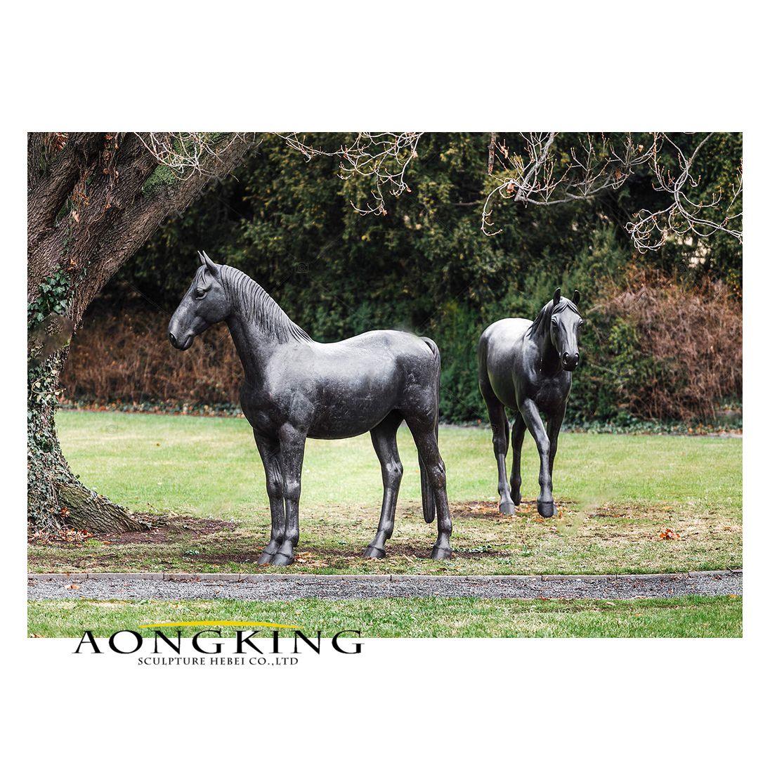 Horses statue in spring park