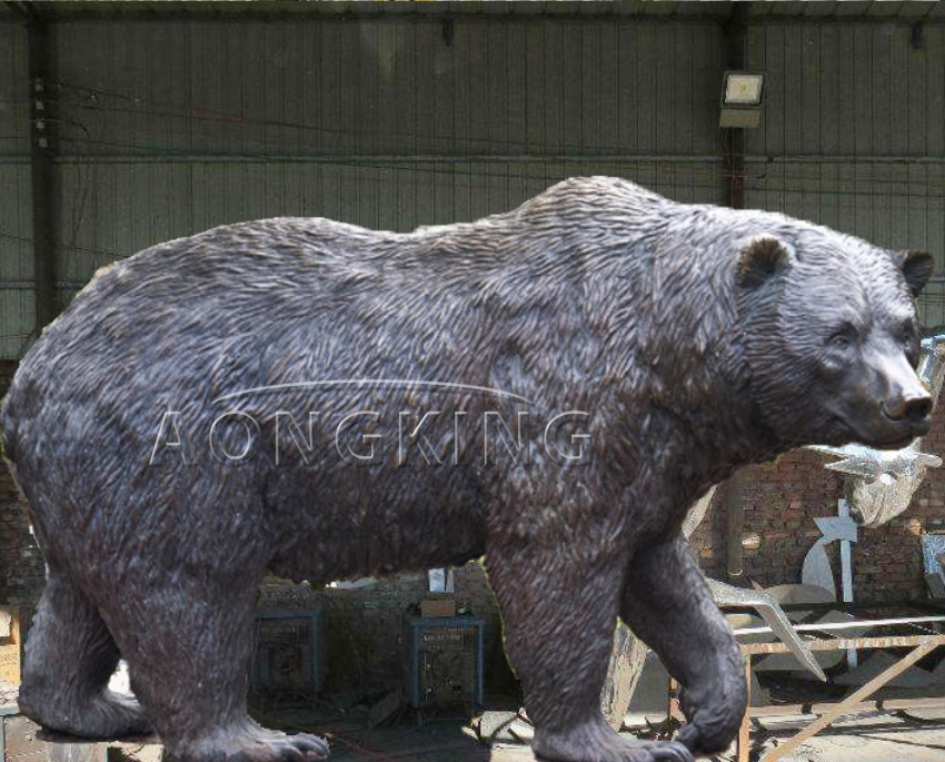 Life size bear sculpture