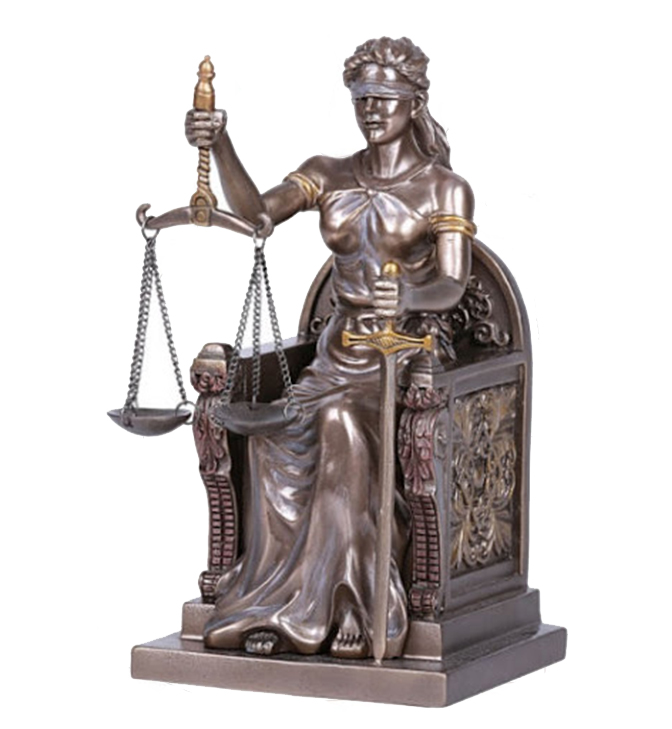 Life statue of justice
