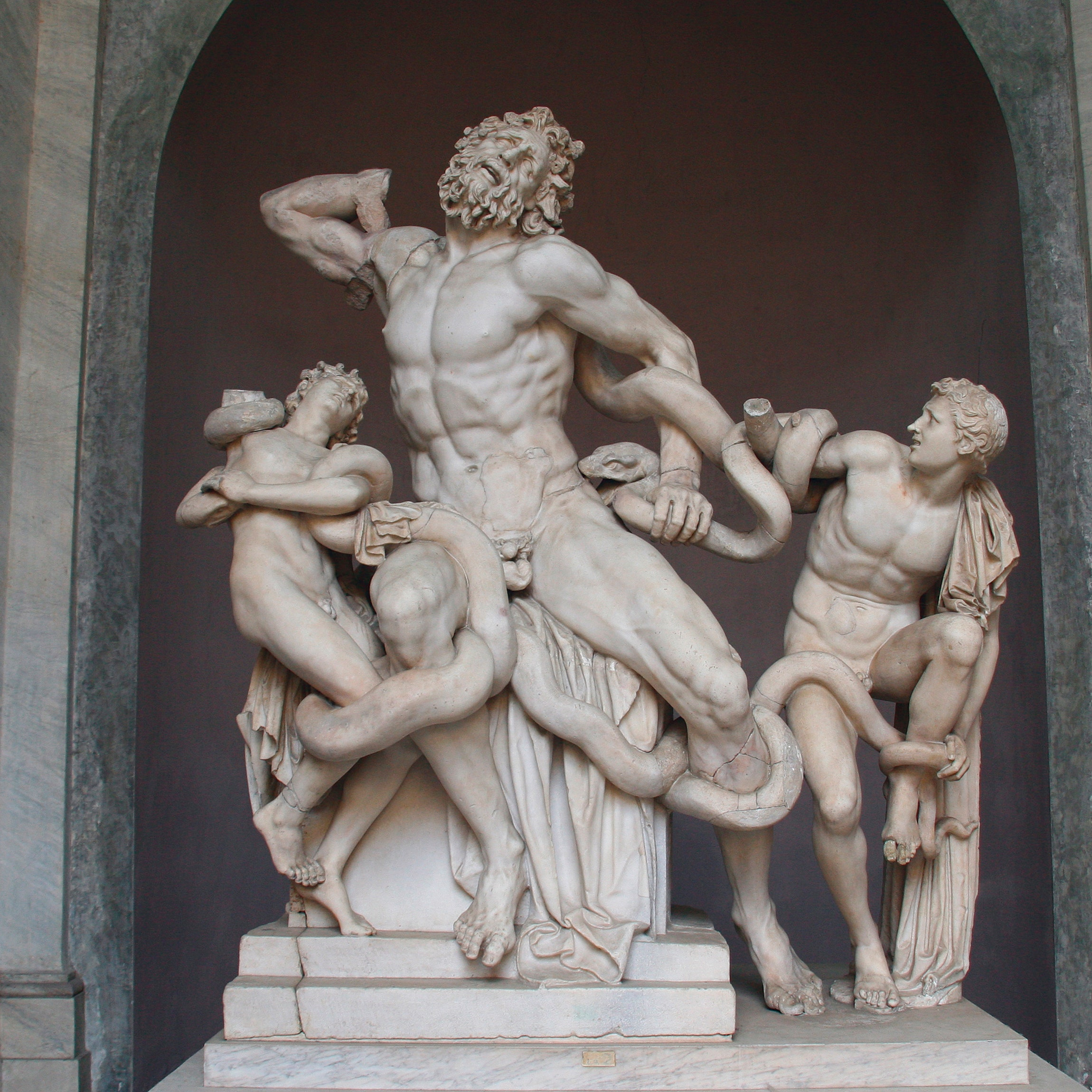 Muscular greek god statues