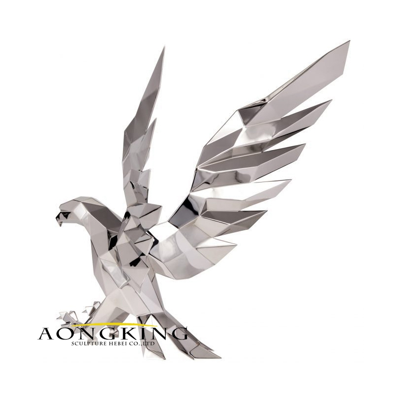 Stainless steel eagle statue