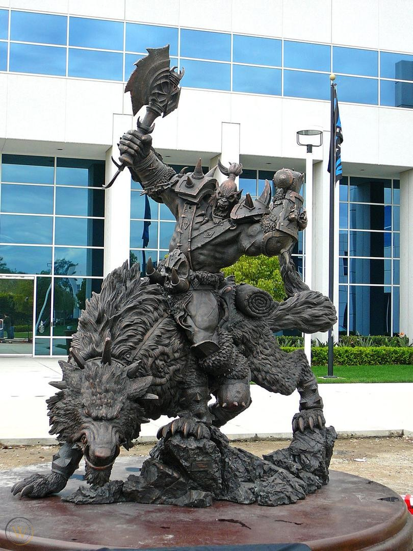 Statue of blizzard employee