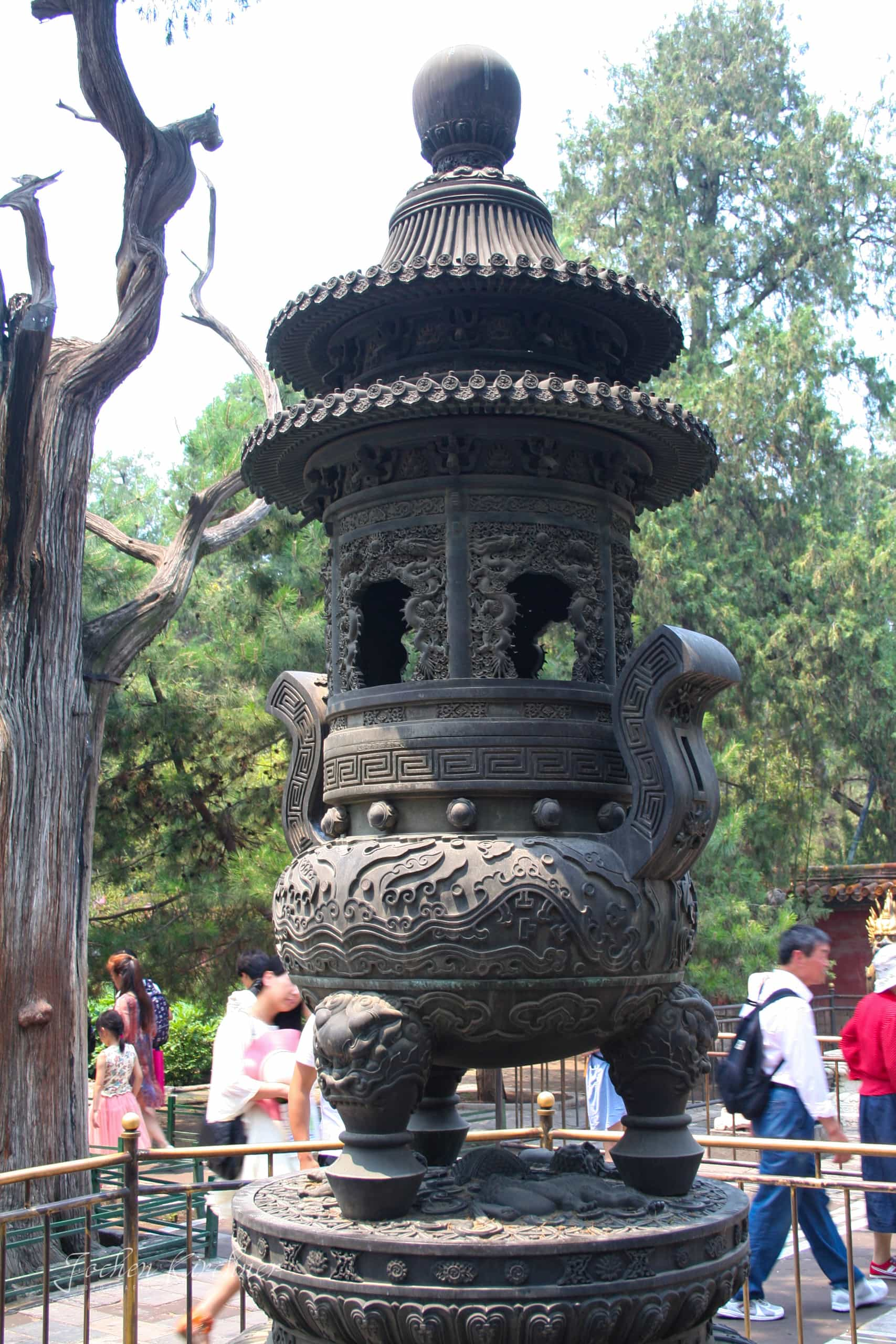Temple garden statue