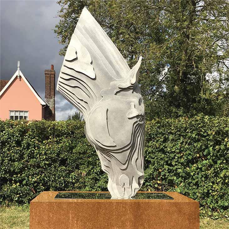 Tom hiscocks horses head sculpture