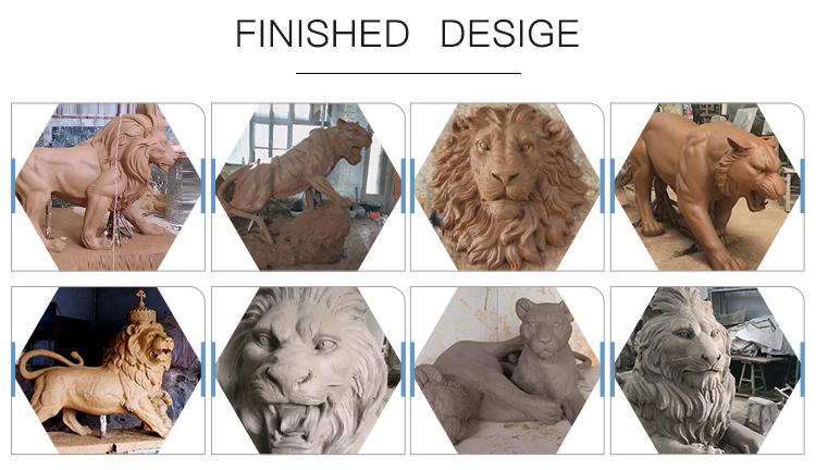 Bronze lion sculpture
