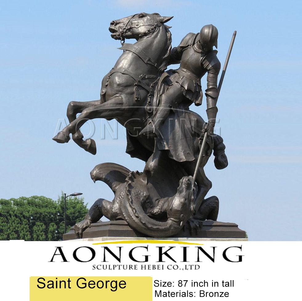 Bronze saint george statue