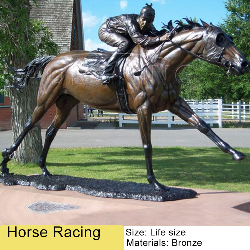 horse racing sculpture