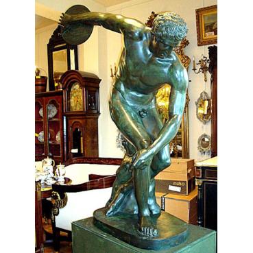 bronze Discobolus in Greek