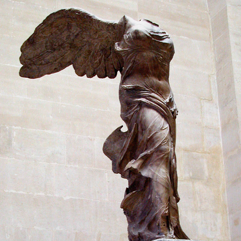 winged victory of samothrace install