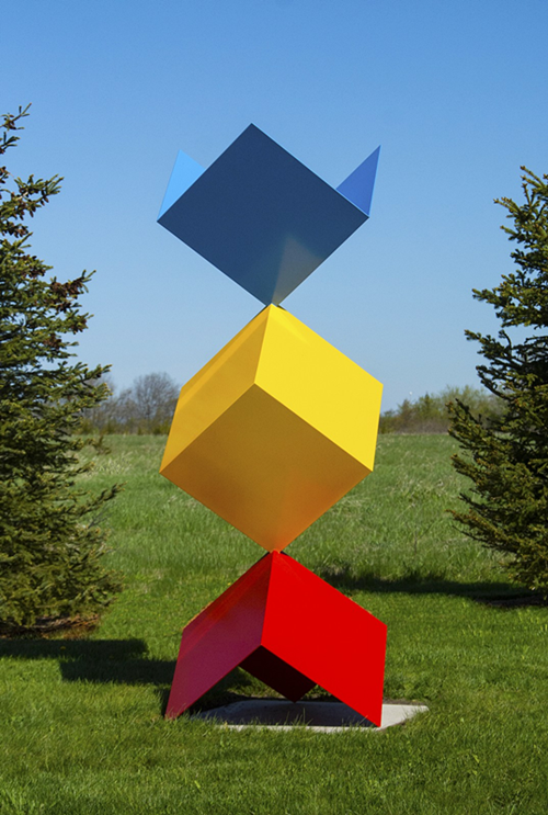 Geometric Cubes sculpture