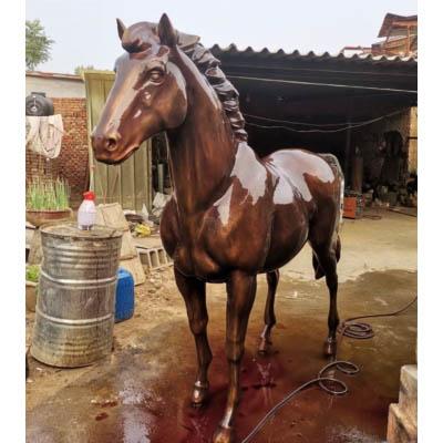 Horse bronze art sculpture