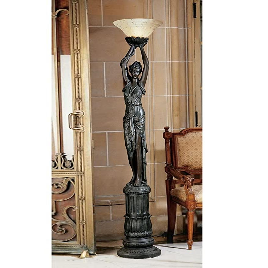 Maiden Figure Sculpture Floor Lamp