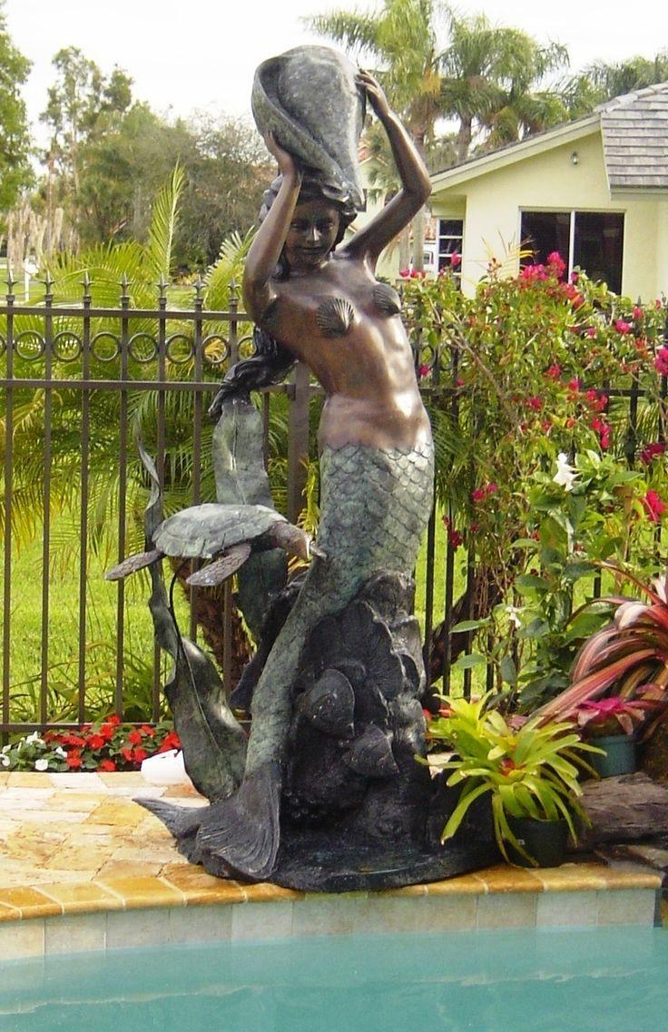 Mermaid fountains statue