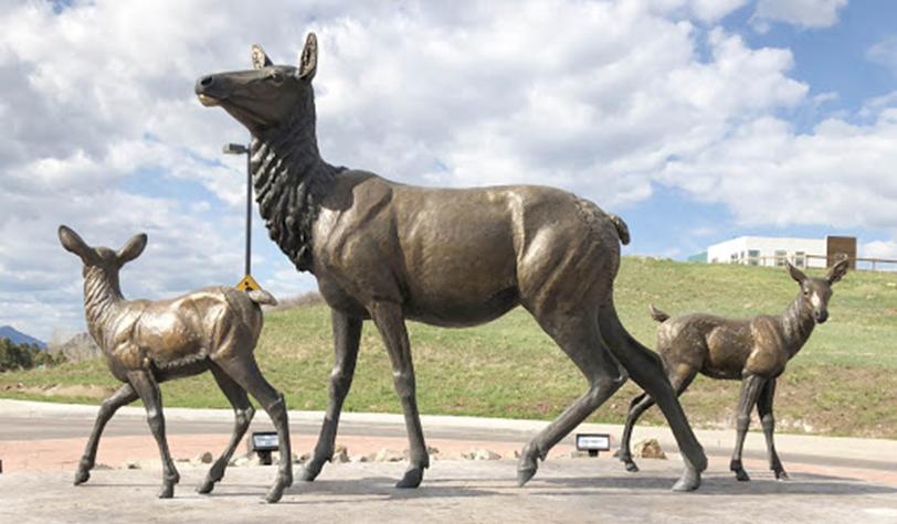 bronze animal sculptures