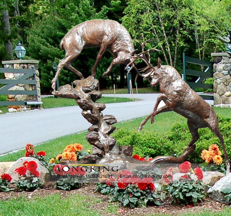 bronze whitetail deer sculpture