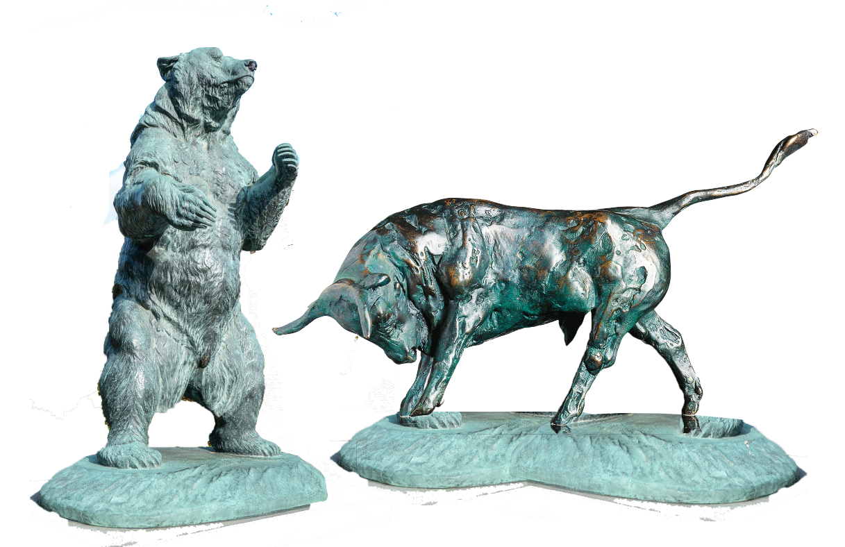 bull and bear statue