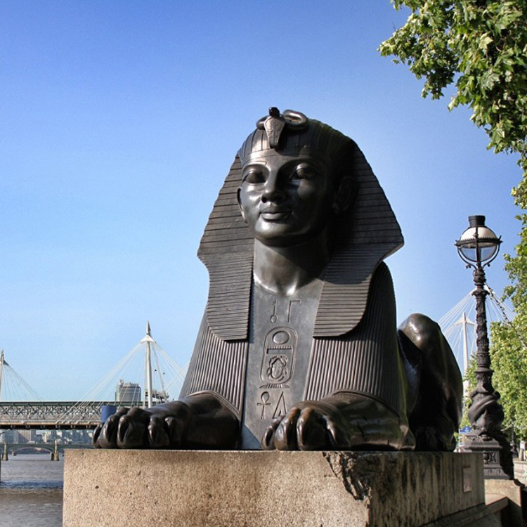 large egyptian statue outdoor
