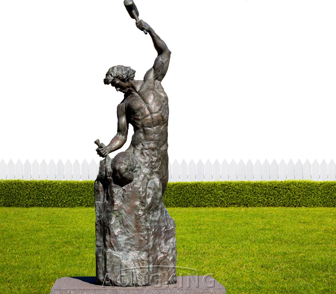 self made man statue in bronze