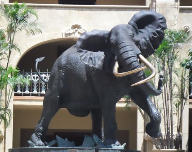 Animal Decoration Elephant Called Shawu Bronze Statue