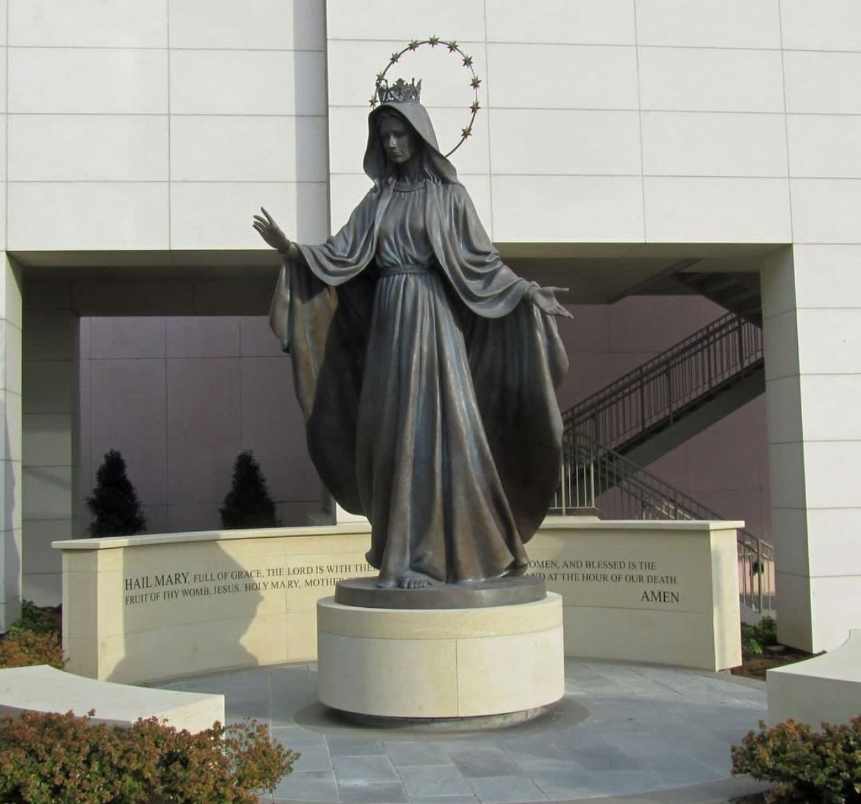Catholic Mary Queen of Heaven Bronze Sculpture by D.A.Clark