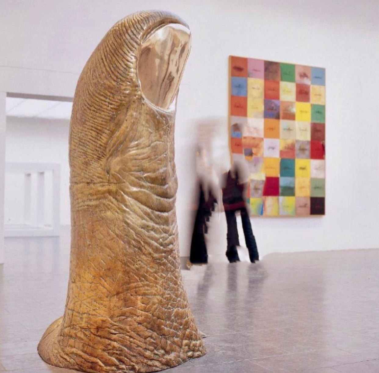 Bronze thumb sculpture