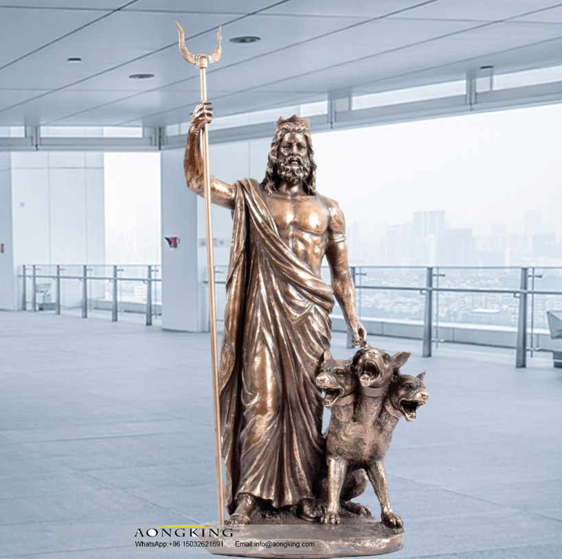 God of the dead and riches Hades statue