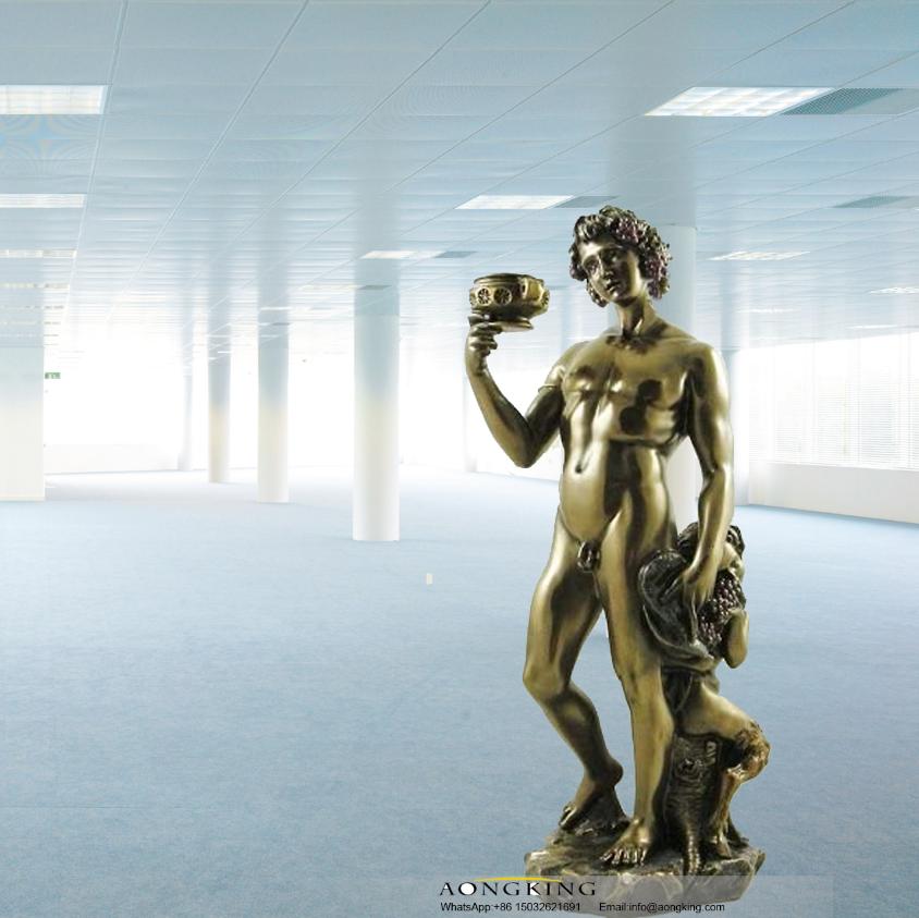 God of the vine statue of Dionysus
