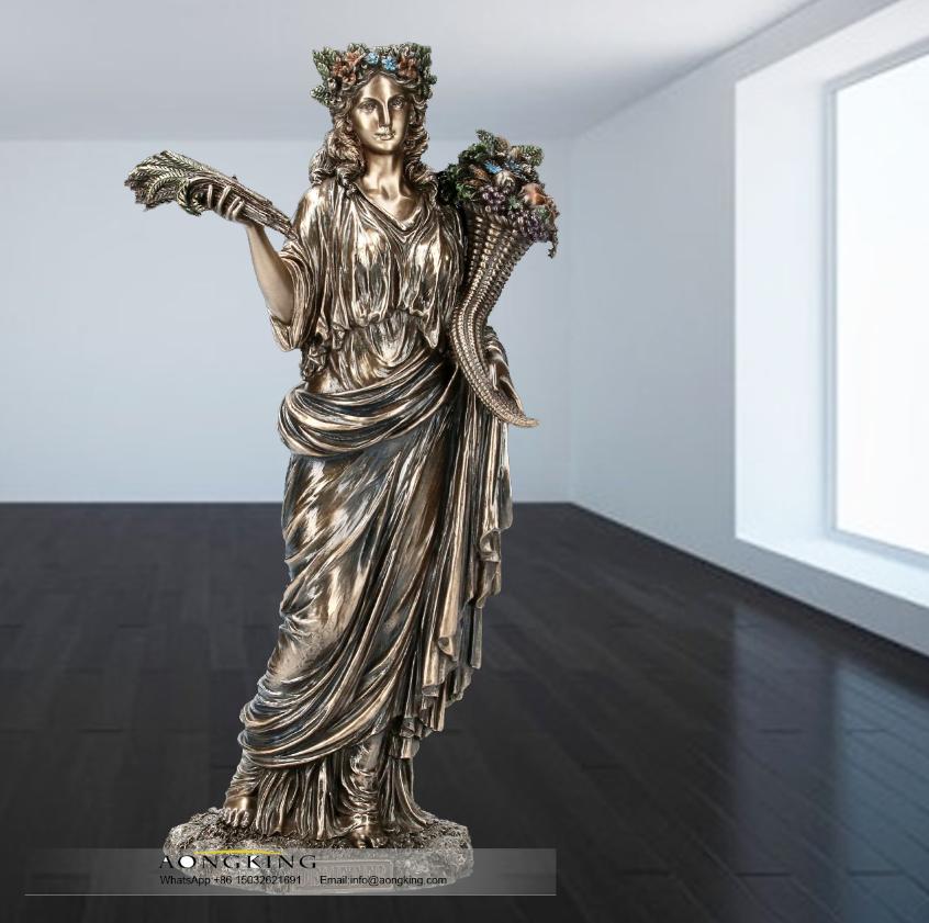 Greek goddess of the harvest Demeter statue