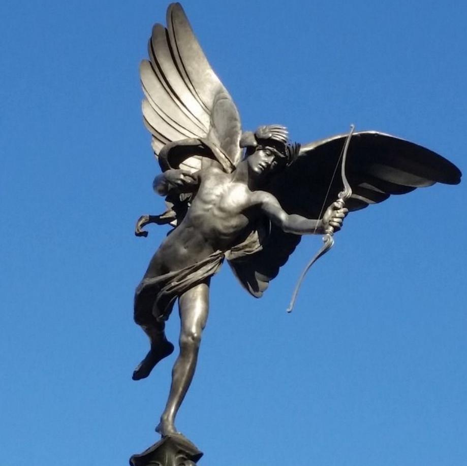 love and sex Greek god Eros statue