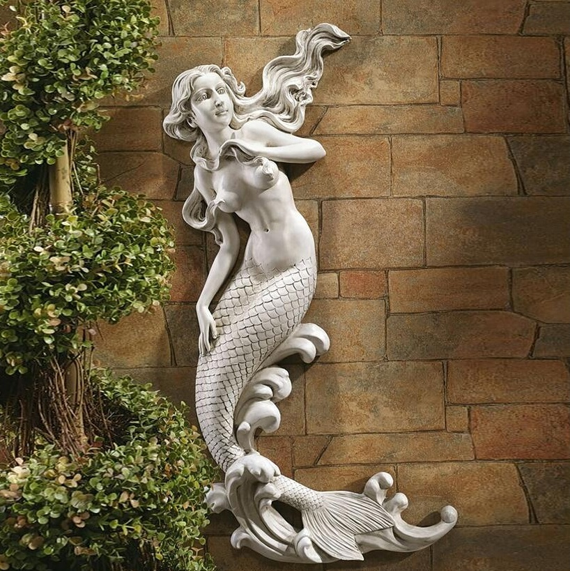 marble mermaid relief