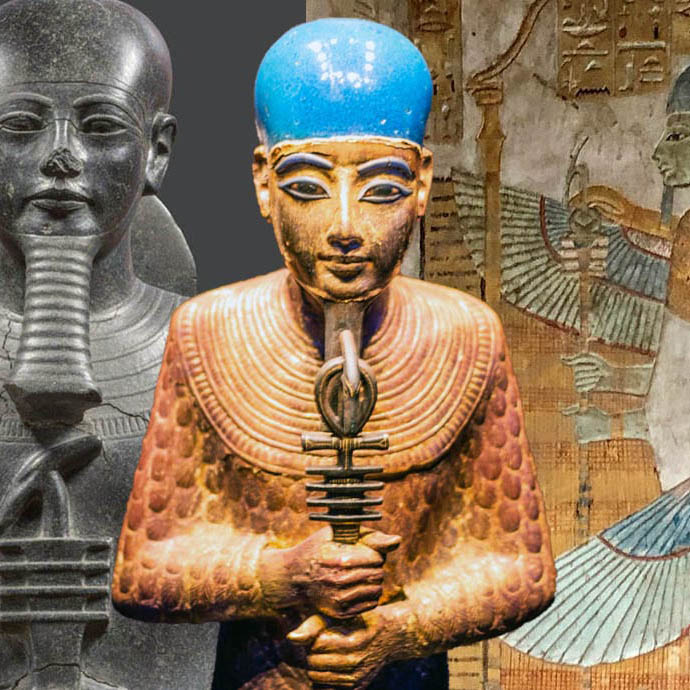 egyptian-statues-fresco-featured