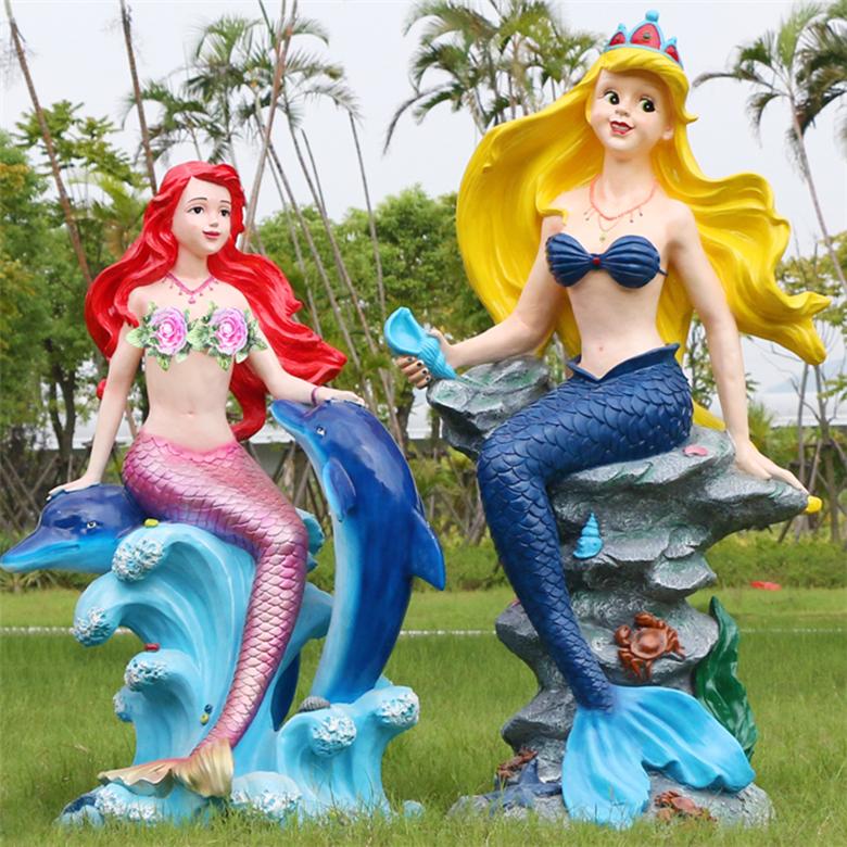 fiberglass mermaid statue
