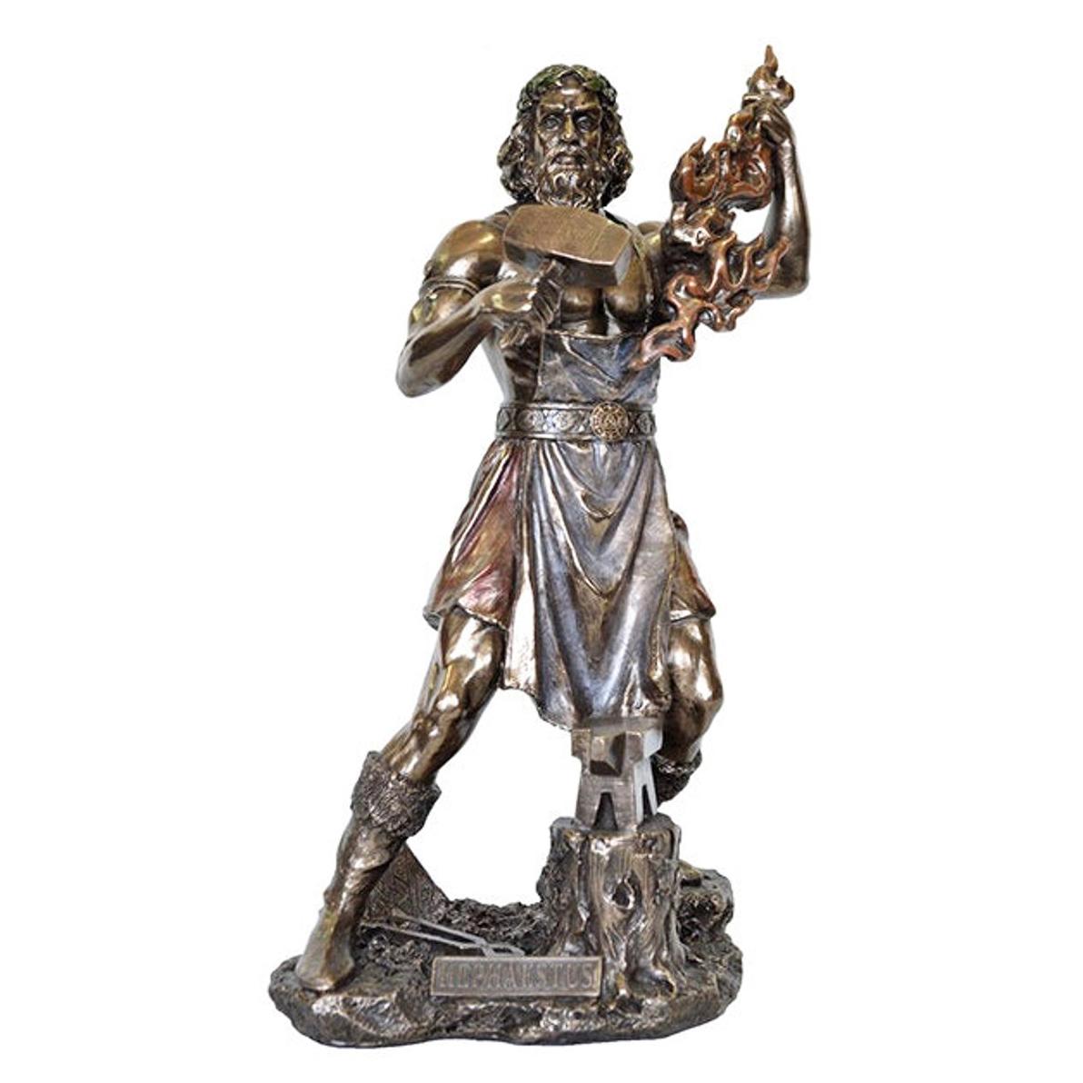 Ancient Greek God Bronze Hephaestus Statue