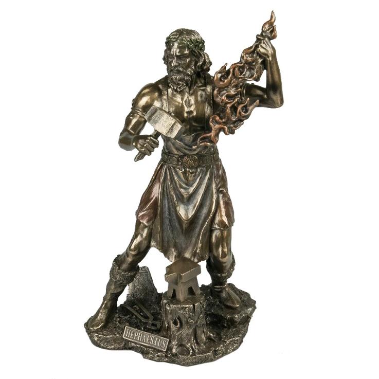Greek God Bronze Statue Hephaestus
